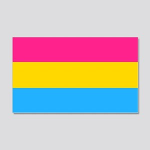 Pansexual Pride Flag 20x12 Wall Decal
