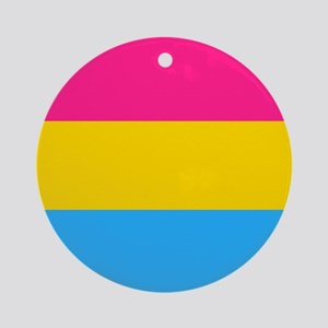Pansexual Pride Flag Ornament (Round)