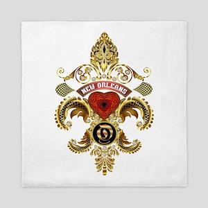 New Orleans Monogram O Queen Duvet