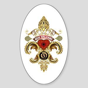 New Orleans Monogram O Sticker (Oval)