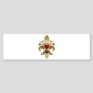New Orleans Monogram O Sticker (Bumper)