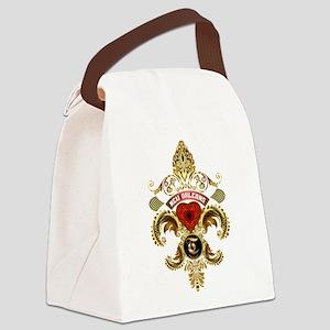 New Orleans Monogram T Canvas Lunch Bag