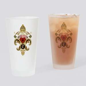 New Orleans Monogram T Drinking Glass