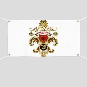 New Orleans Monogram W Banner