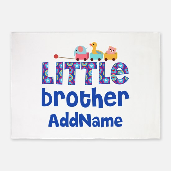 Personalized Little Brother 5'x7'Area Rug