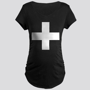 swiss flag Maternity T-Shirt