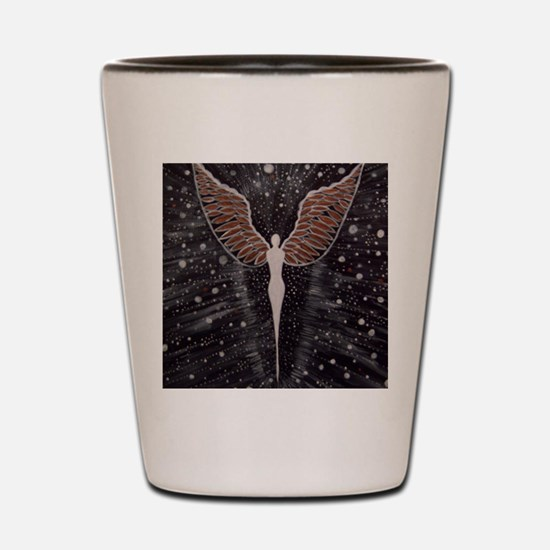 Cute Angel artists Shot Glass