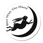 Witch Hare Round Car Magnet