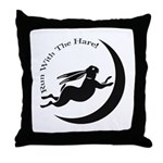 Witch Hare Throw Pillow