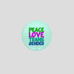 Peace Love Trans Mini Button