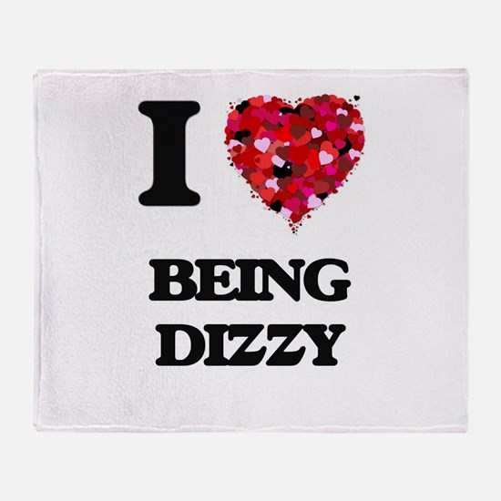 I Love Being Dizzy Throw Blanket