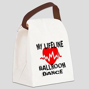 My Lifeline Ballroom dance Canvas Lunch Bag