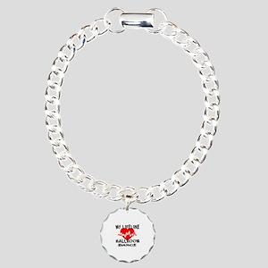 My Lifeline Ballroom dan Charm Bracelet, One Charm