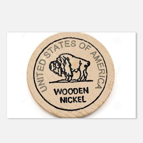 Wooden Nickel Postcards (Package of 8)