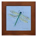 Dragonfly Blue Framed Tile