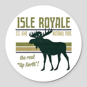 Isle Royale Moose National Park Round Car Magnet