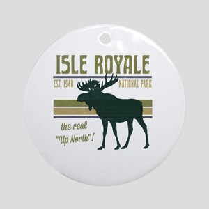 Isle Royale Moose National Park Round Ornament