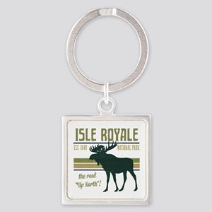 Isle Royale Moose National Park Square Keychain