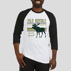 Isle Royale Moose National Park Baseball Jersey