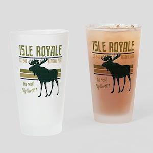 Isle Royale Moose National Park Drinking Glass