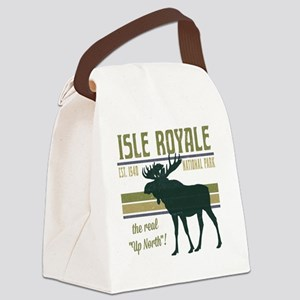 Isle Royale Moose National Park Canvas Lunch Bag