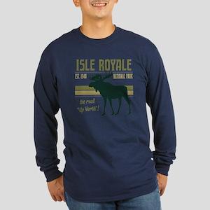Isle Royale Moose Nationa Long Sleeve Dark T-Shirt