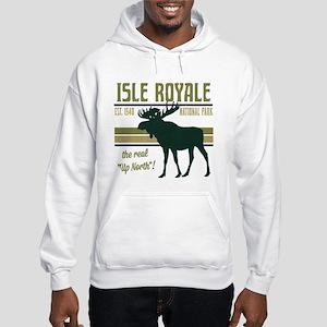 Isle Royale Moose National Park Hooded Sweatshirt