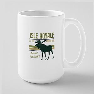 Isle Royale Moose National Park Large Mug