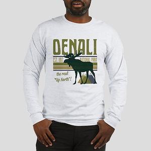 Denali National Park Moose Long Sleeve T-Shirt