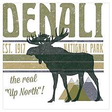 Denali National Park Moose Poster