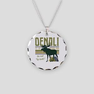 Denali National Park Moose Necklace Circle Charm
