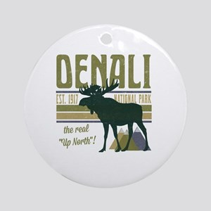 Denali National Park Moose Round Ornament