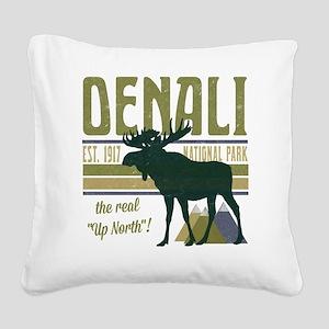 Denali National Park Moose Square Canvas Pillow