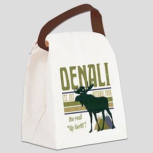 Denali National Park Moose Canvas Lunch Bag