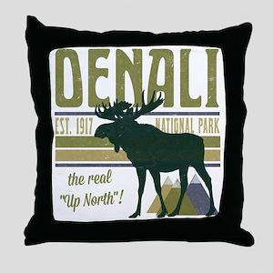 Denali National Park Moose Throw Pillow