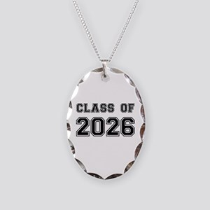 Class of 2026 Necklace Oval Charm
