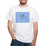 Dragonfly Blue White T-Shirt