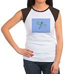 Dragonfly Blue Junior's Cap Sleeve T-Shirt