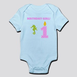 Birthday Girl Seahorse Body Suit