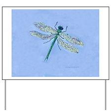 Dragonfly Blue Yard Sign