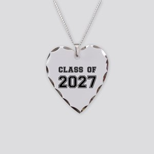 Class of 2027 Necklace Heart Charm