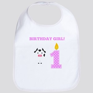 Birthday Girl Cow Bib