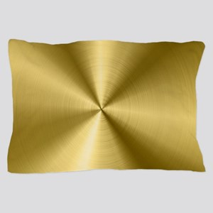 Metallic Faux Gold Stainless Steel Loo Pillow Case