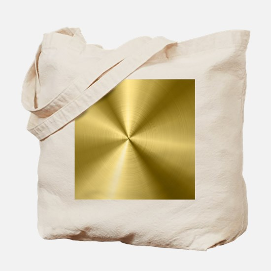 Metallic Faux Gold Stainless Steel Look Tote Bag