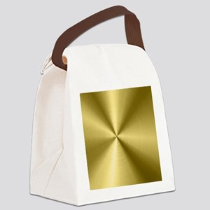 Metallic Faux Gold Stainless Stee Canvas Lunch Bag