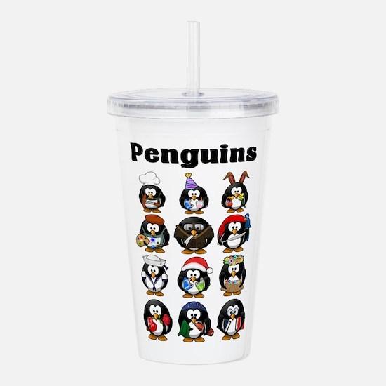 Penguins Acrylic Double-wall Tumbler
