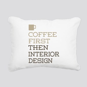Coffee Then Interior Des Rectangular Canvas Pillow