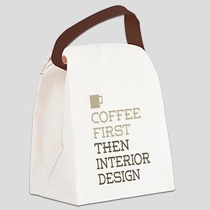 Coffee Then Interior Design Canvas Lunch Bag