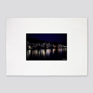 Philadelphia Boathouse Row, Nightvi 5'x7'Area Rug