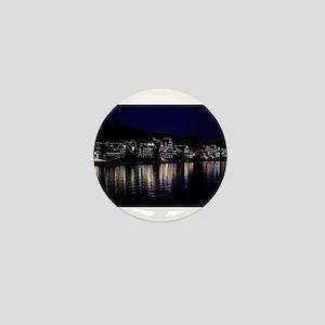 Philadelphia Boathouse Row, Nightview Mini Button